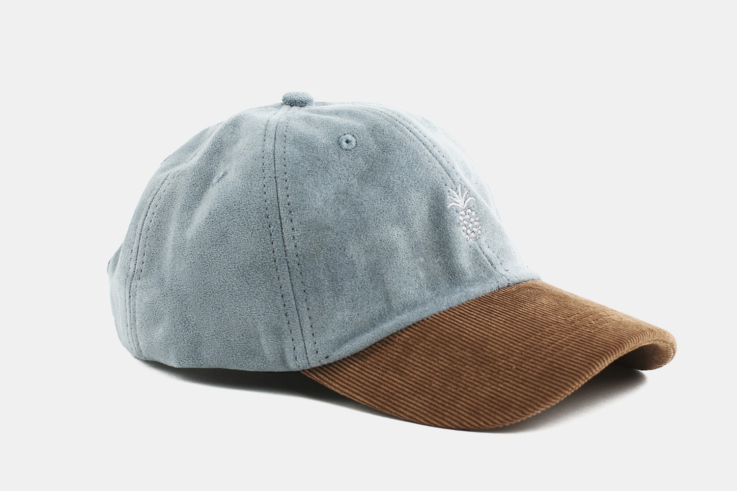 Pineapple Two-Tone Cap - Steel Blue & Corduroy