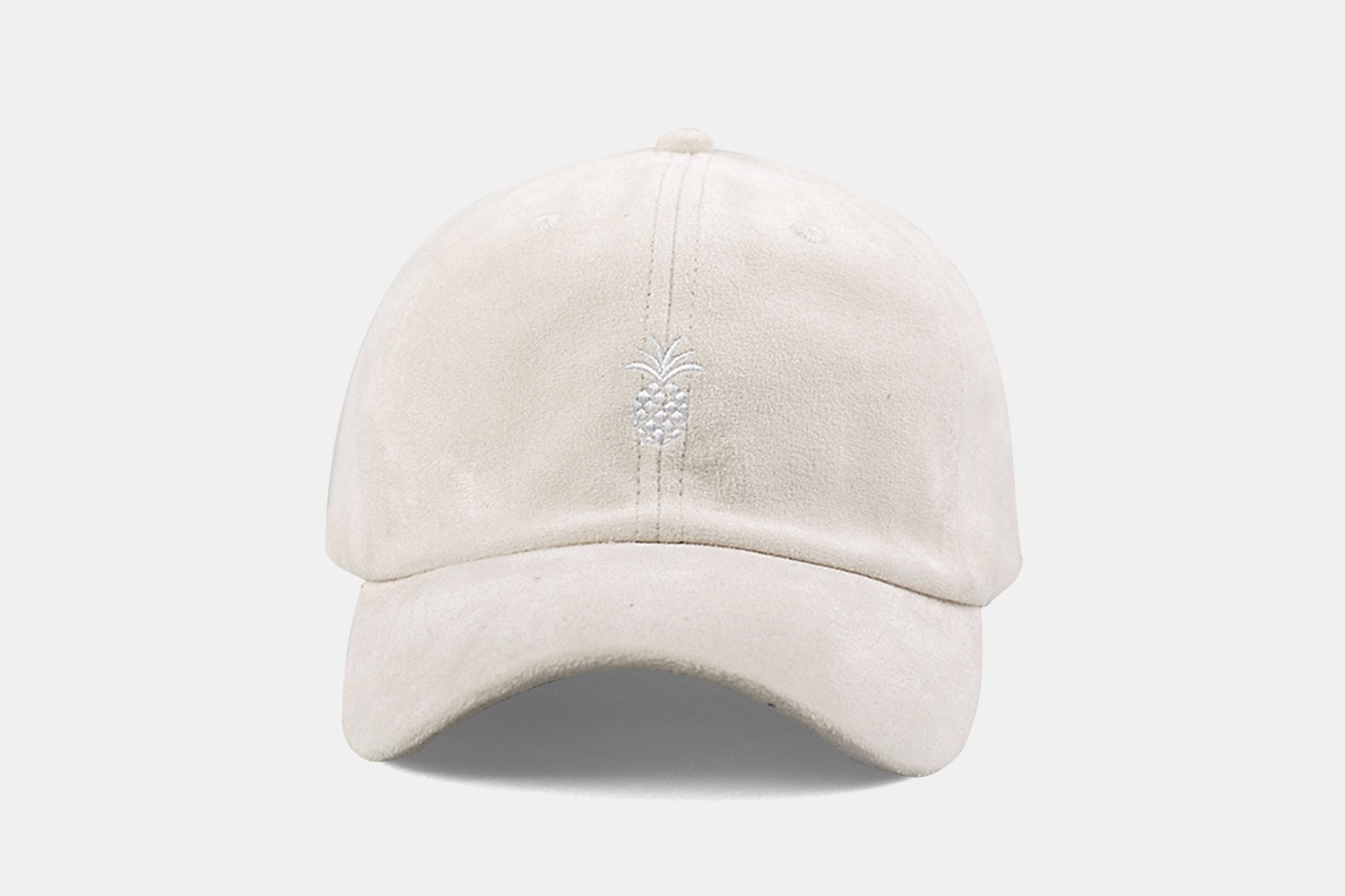 Pineapple Suede Cap - Cream