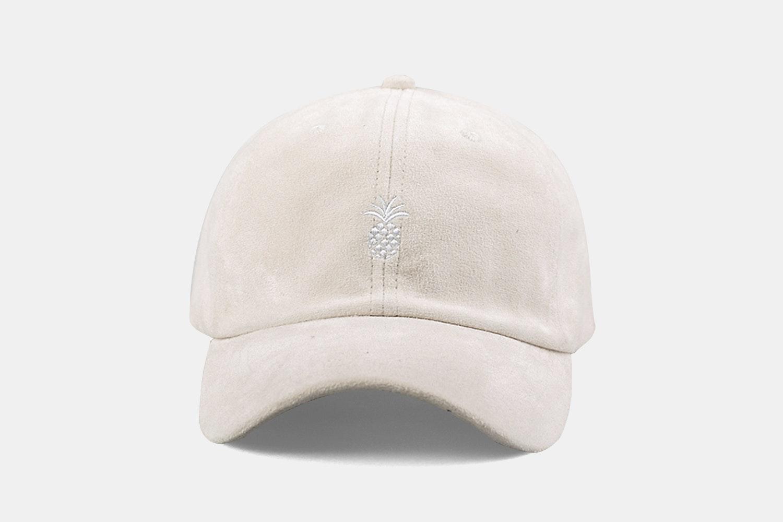 Pineapple Suede Cap - Cream