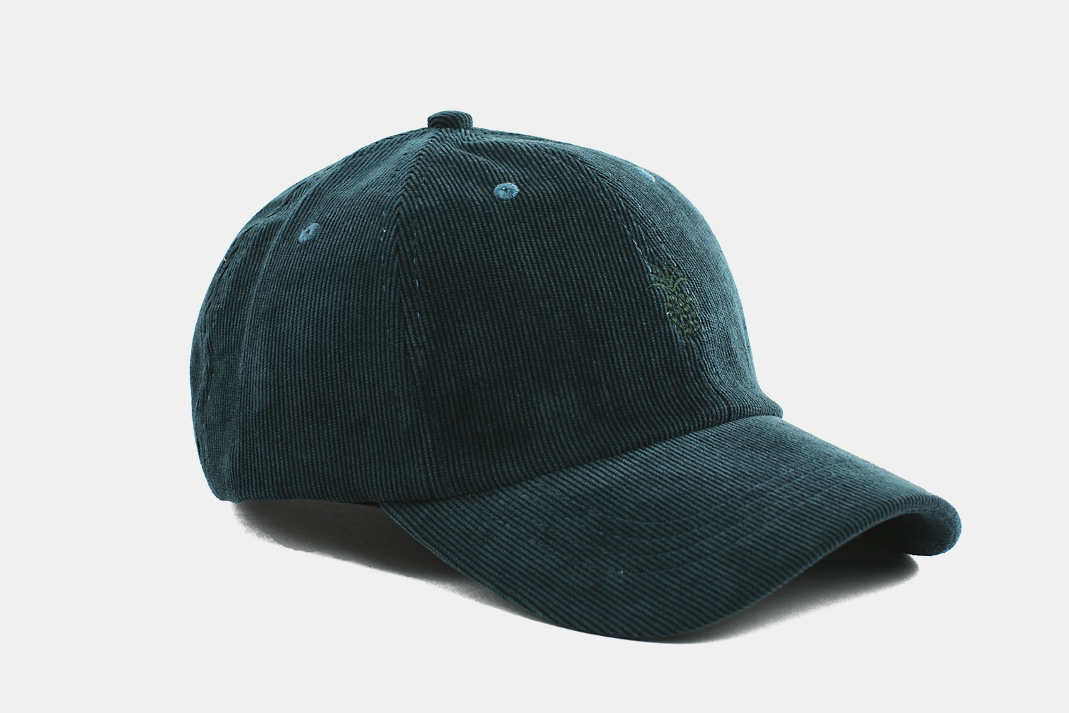 Pineapple Corduroy Cap - Pine Green
