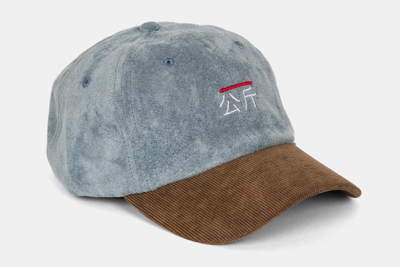 Qilogram Suede Dad Hat - Steel Blue / Brown