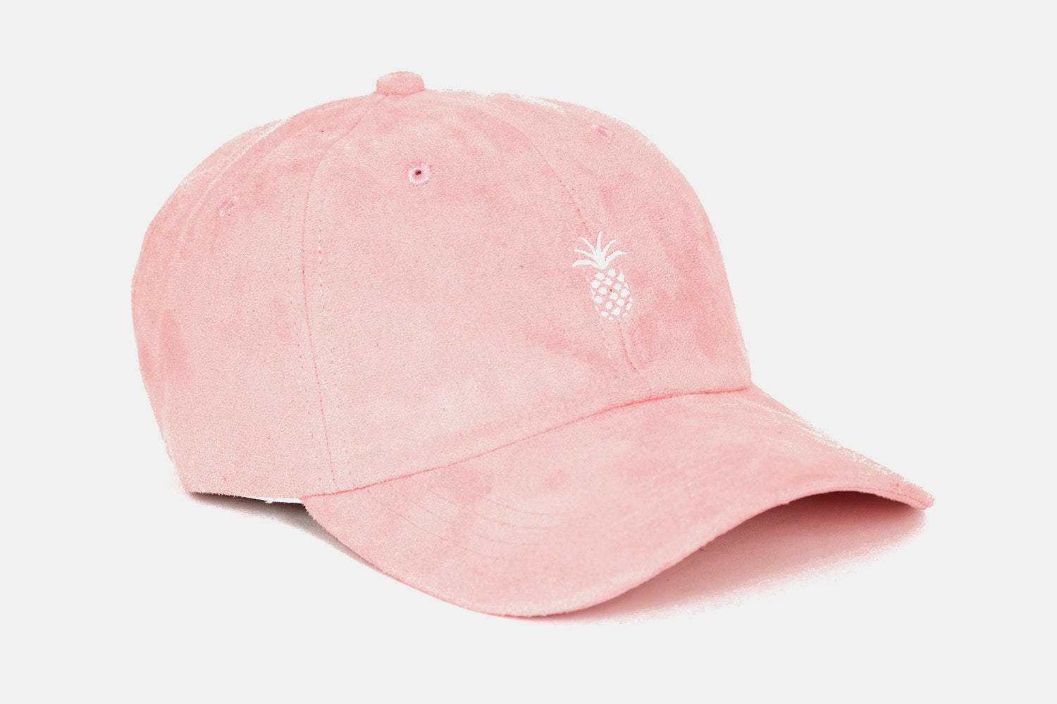 Pineapple Suede Dad Hat (Pink)
