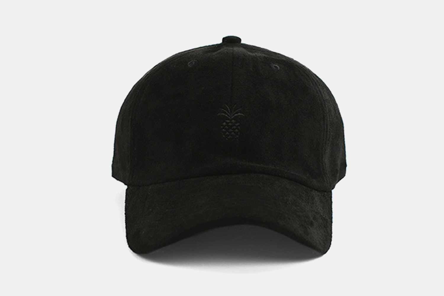 Pineapple Suede Dad Hat - All Black