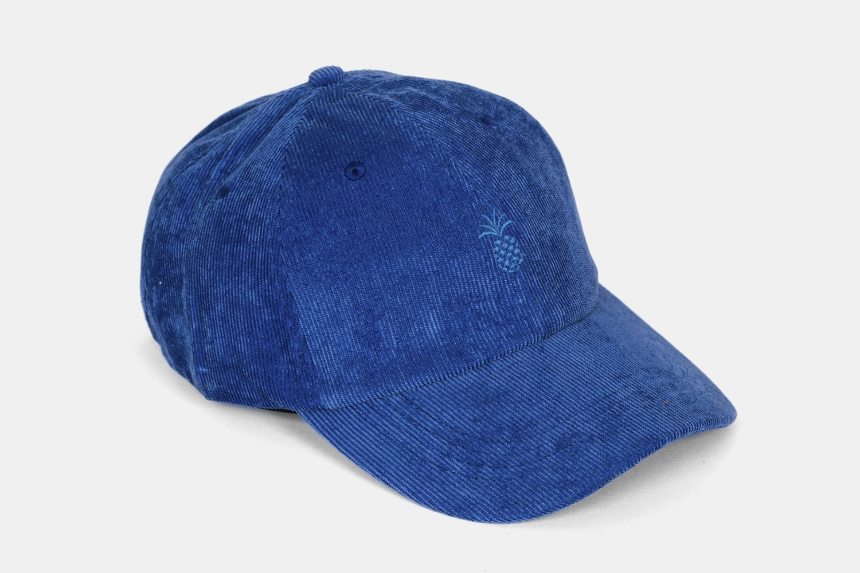 Pineapple Corduroy Dad Hat - Cobalt