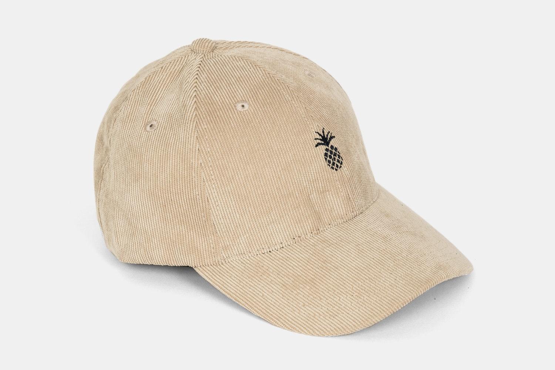 Pineapple Corduroy Dad Hat -Cream