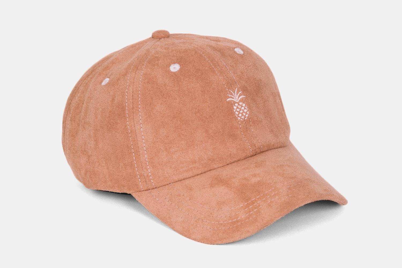 Pineapple Suede Dad Hat - Sandstone