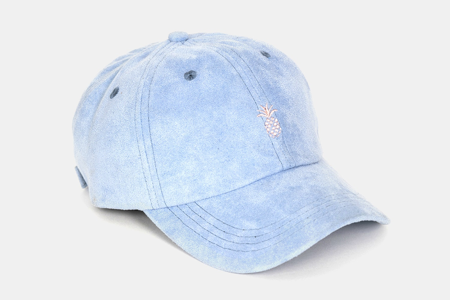 Pineapple Suede Dad Hat - Baby Blue