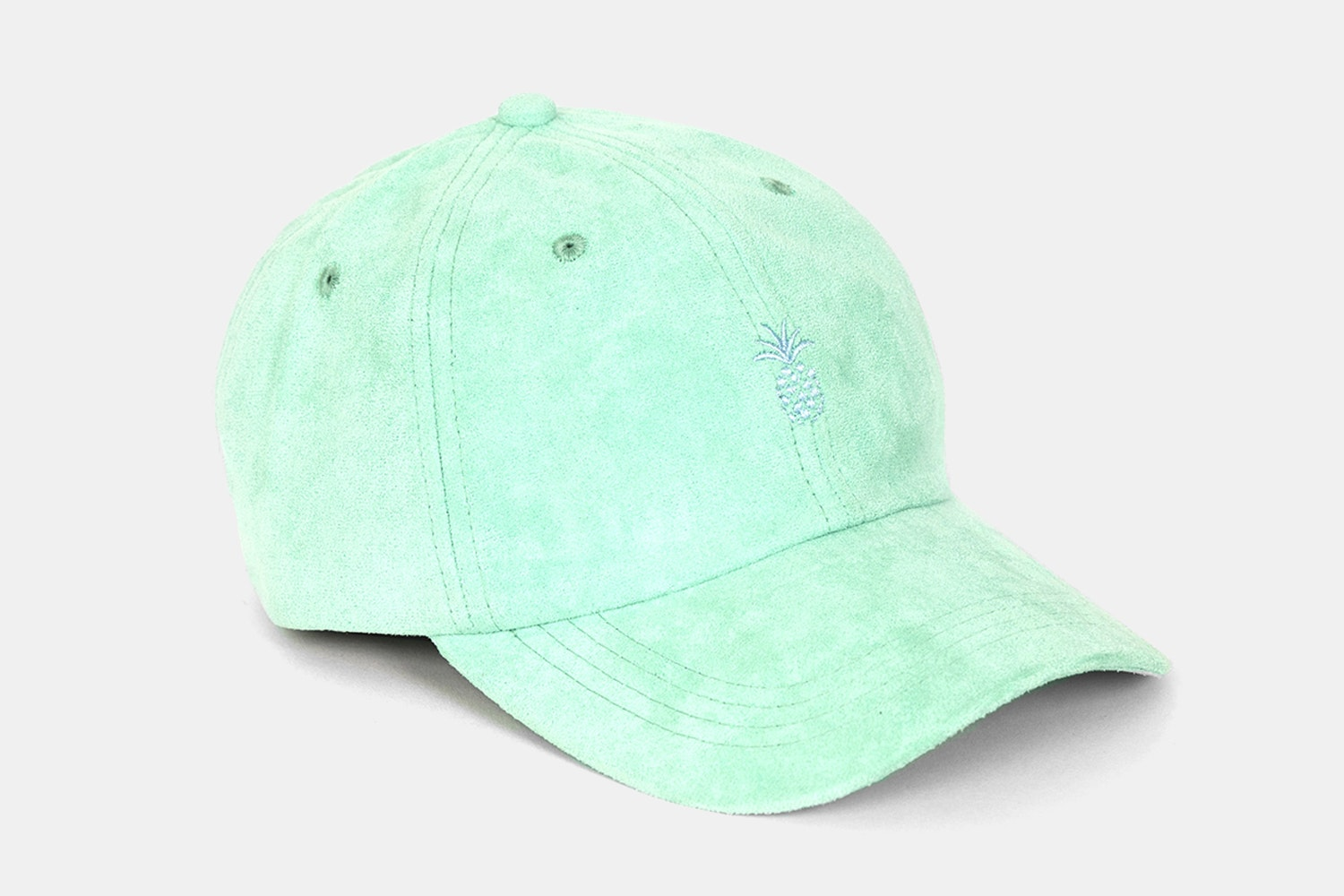 Pineapple Suede Dad Hat - Mint