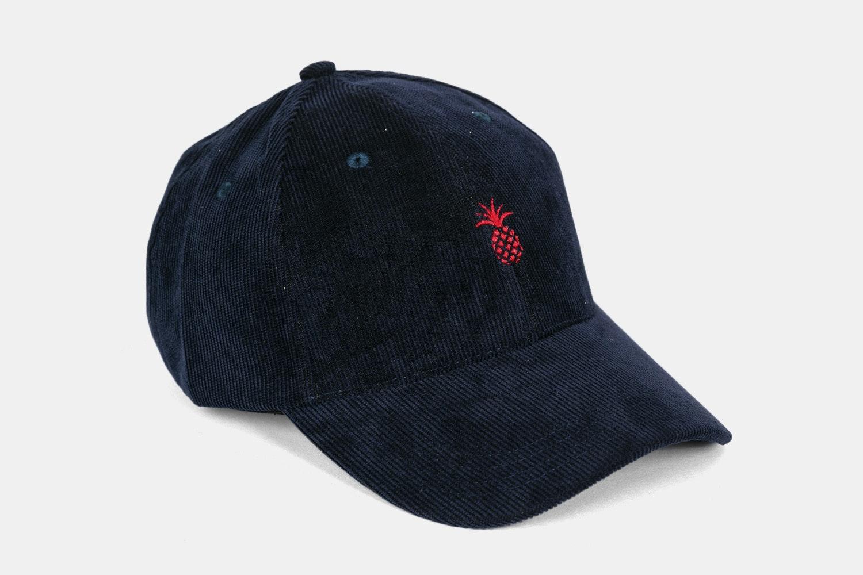 Pineapple Corduroy Dad Hat - Midnight