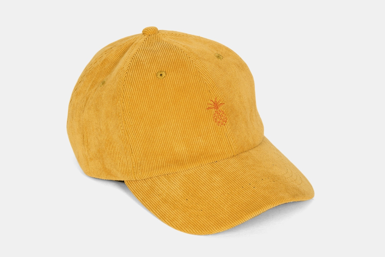 Pineapple Corduroy Dad Hat -  Mustard
