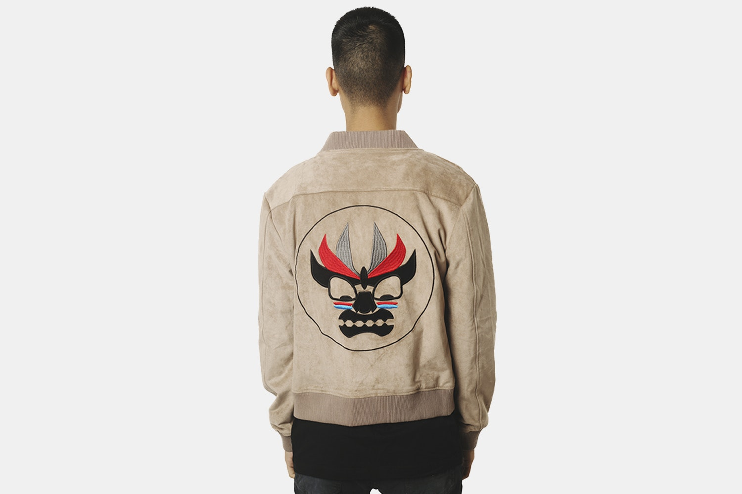 Aku Bomber Jacket (with back embroidery) - Camel  (+ $20)