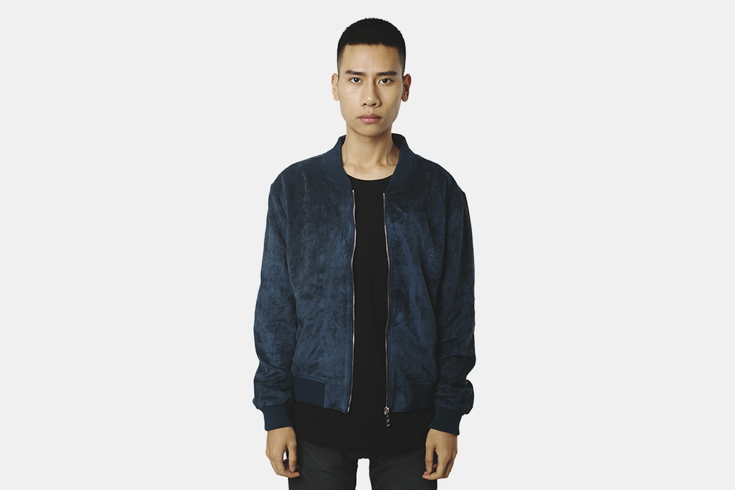 Bomber Jacket  (without back embroidery) - Navy