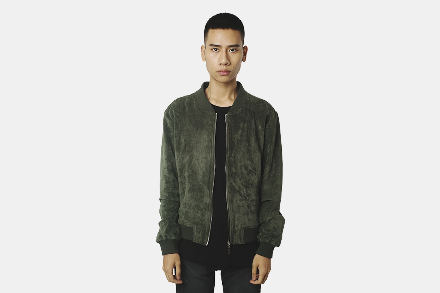 Bomber Jacket  (without back embroidery) - Dark Olive