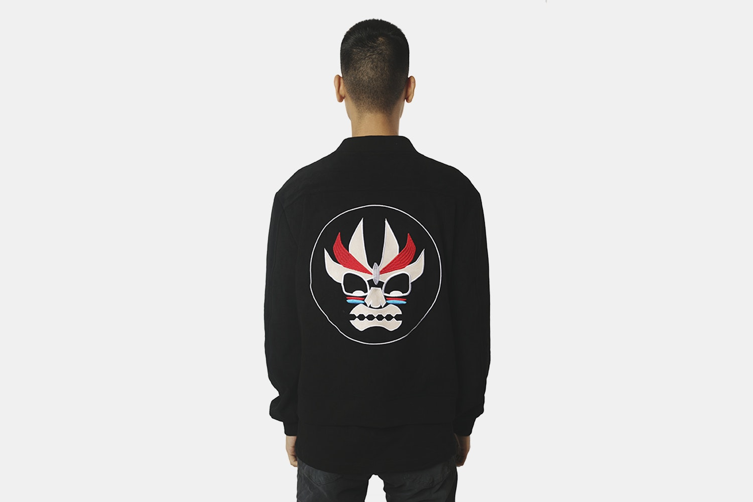 Aku Bomber Jacket  (with back embroidery) - Black (+ $20)