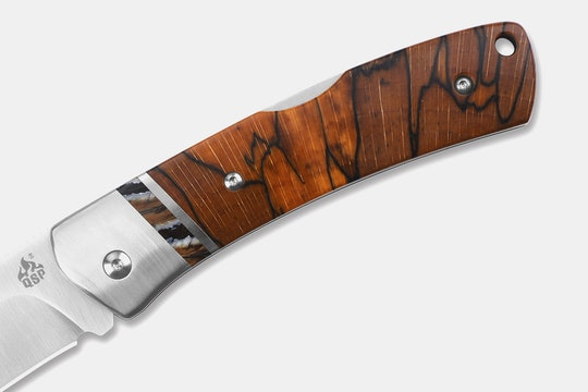 QSP Mustang Raffir Wood & M390 Lockback Knife