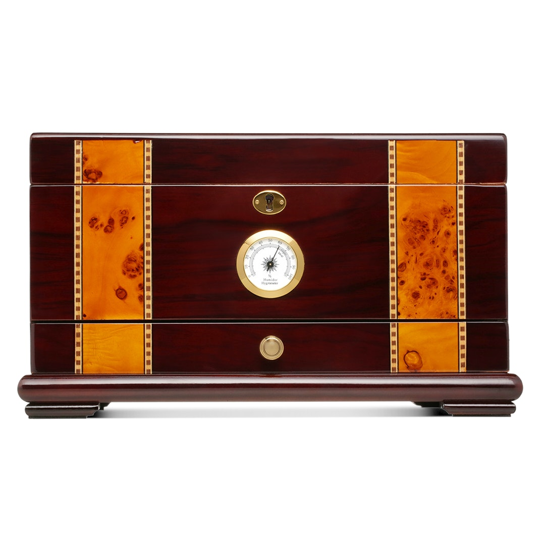 Quality Importers Solana Rosewood Cigar Humidor