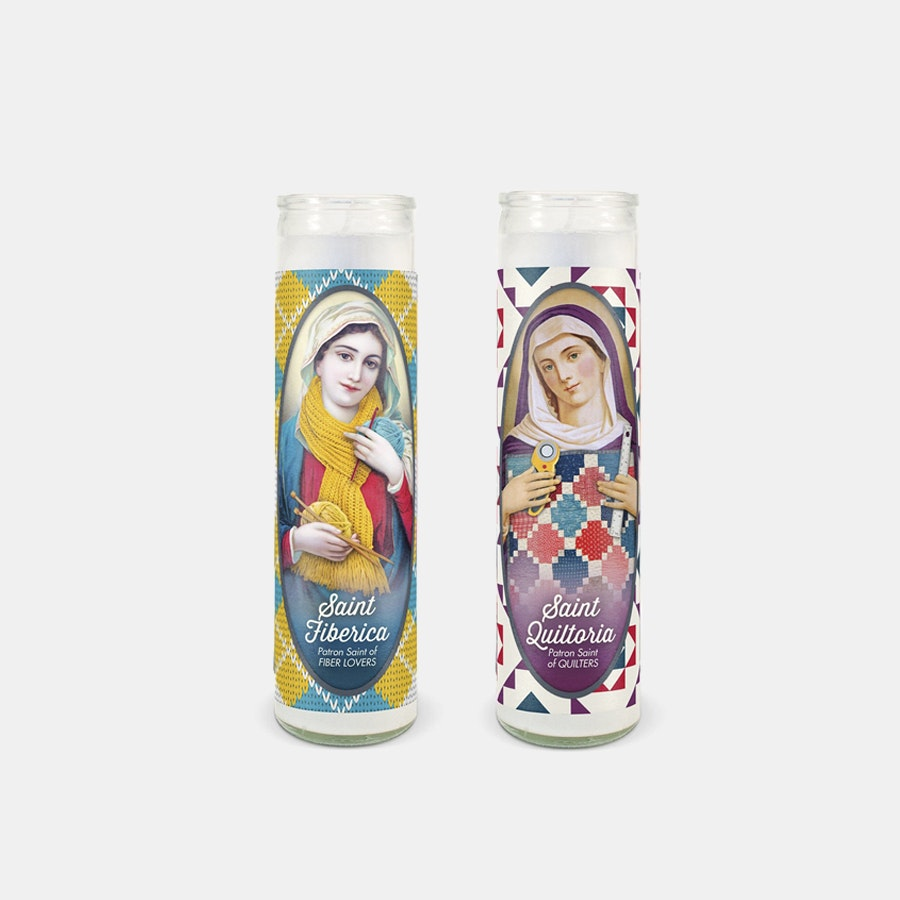 Quilt Happy Candle (2-Pack)
