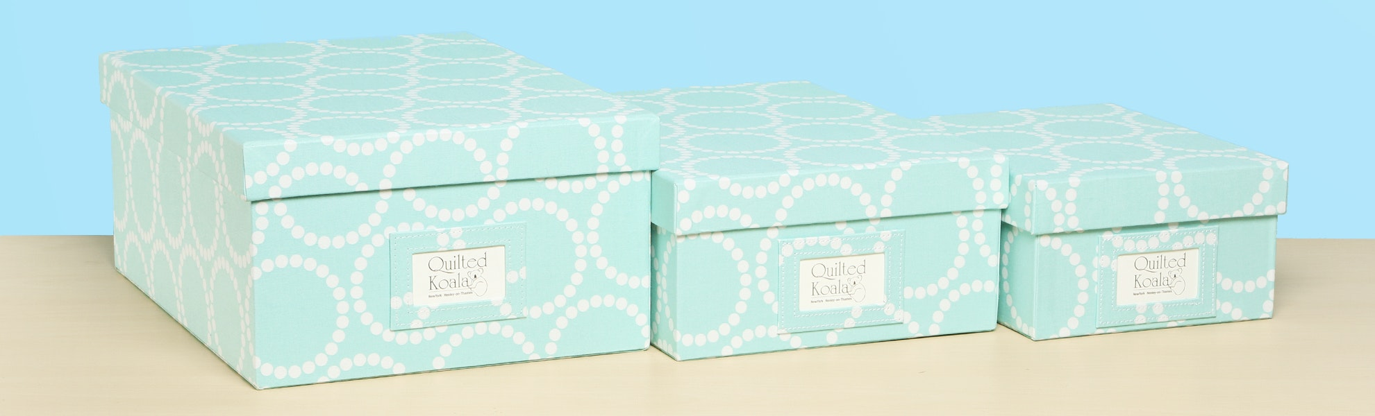 Quilted Koala Fabric Boxes