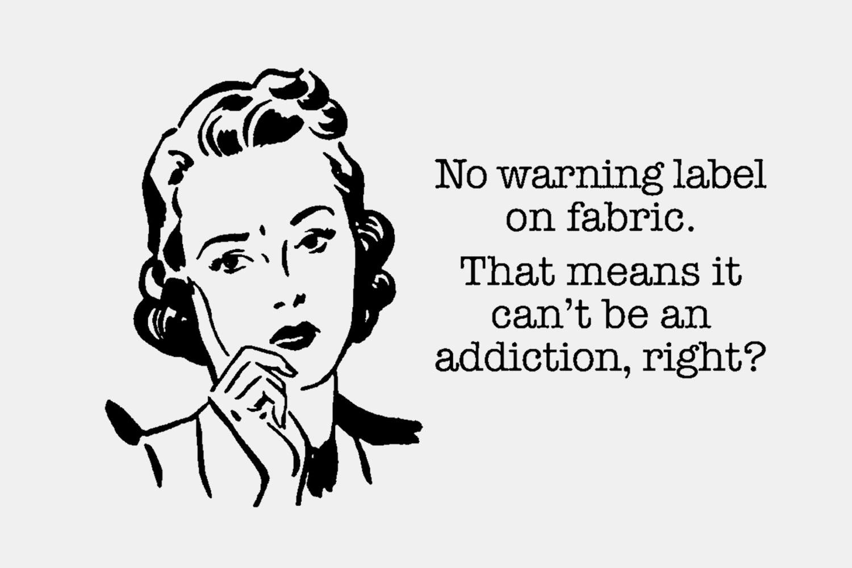 Fabric Warning Label