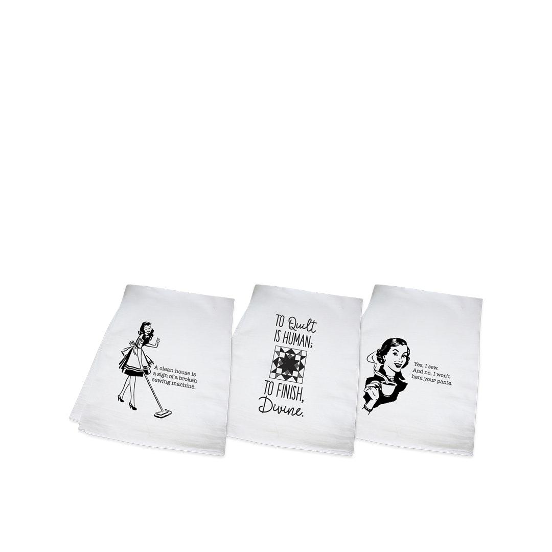 Quilting Tea Towels (3-Pack)