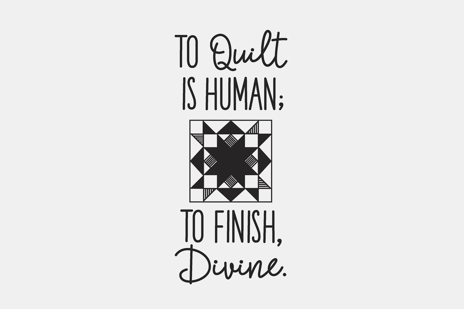To Quilt Is Human