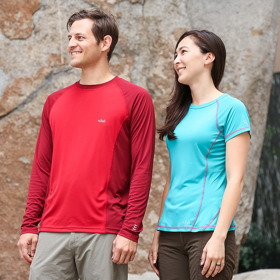 Rab Aeon Short or Long-Sleeve Tee Closeout