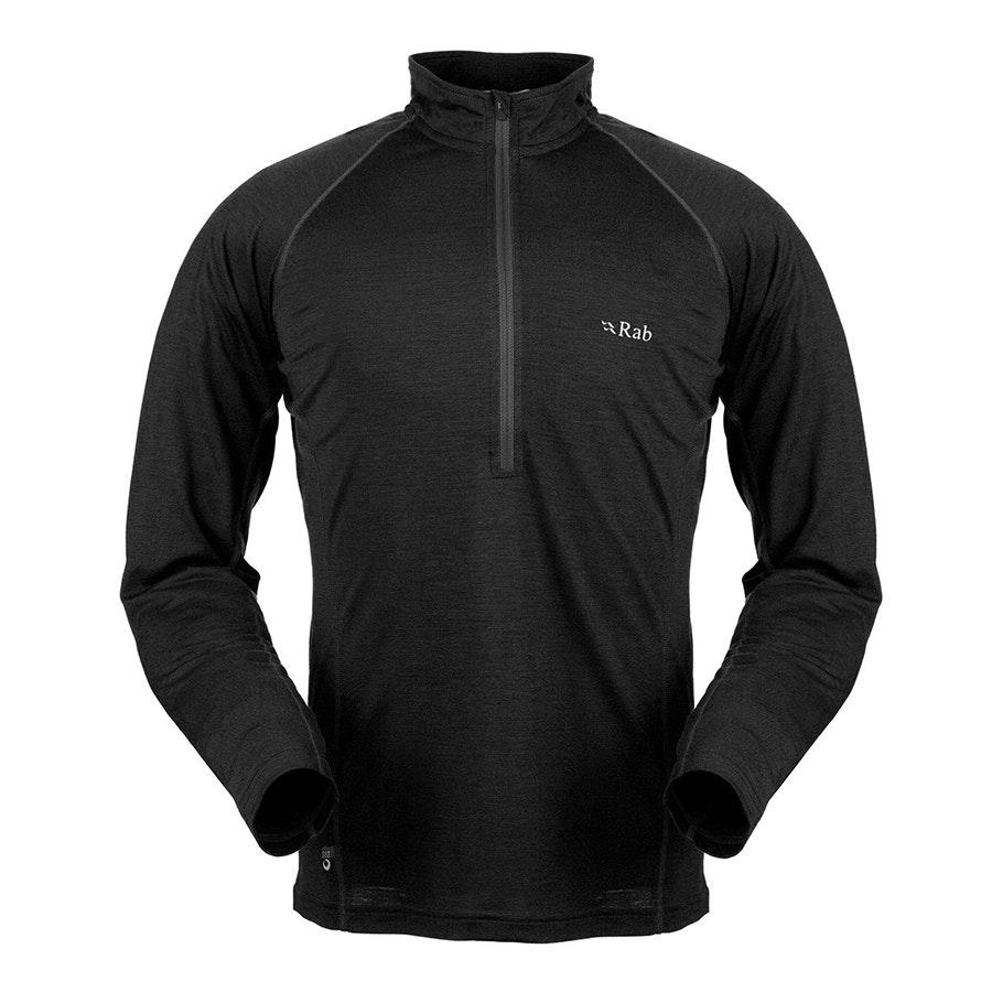 165 Long Sleeve Zip, Black (+ $12)