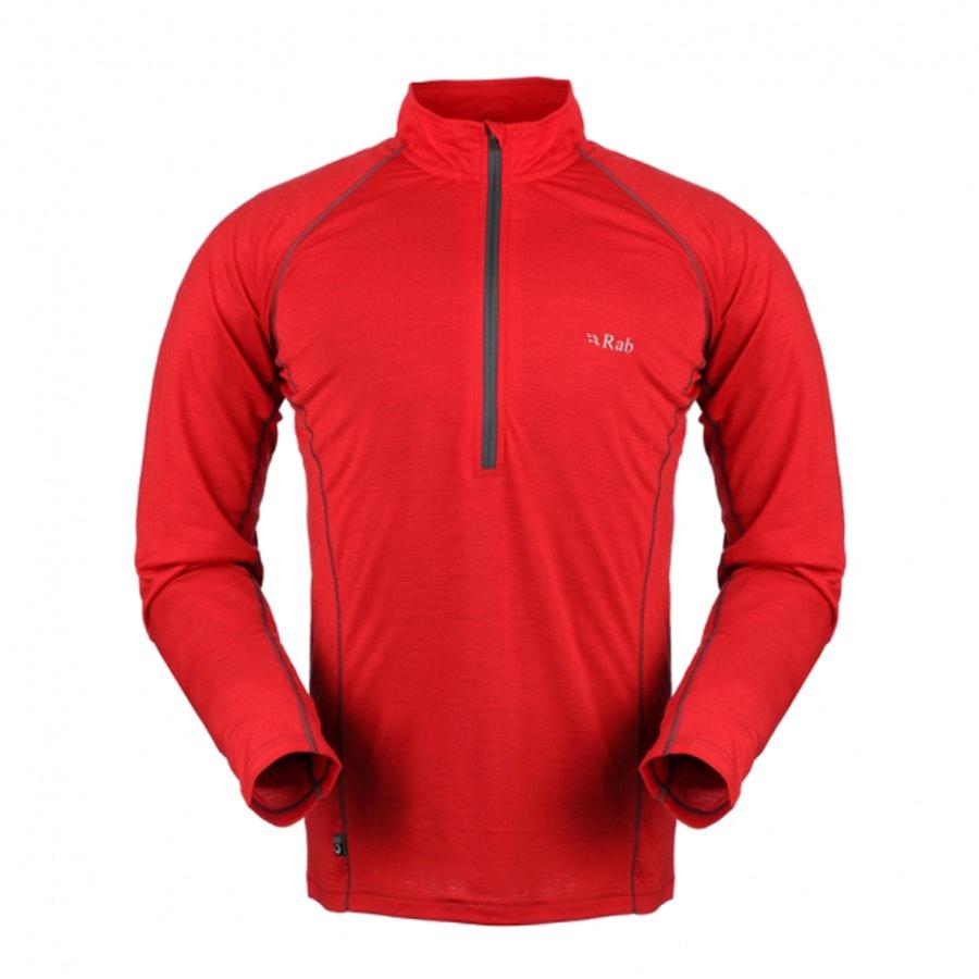 165 Long Sleeve Zip, Carmine (+ $12)