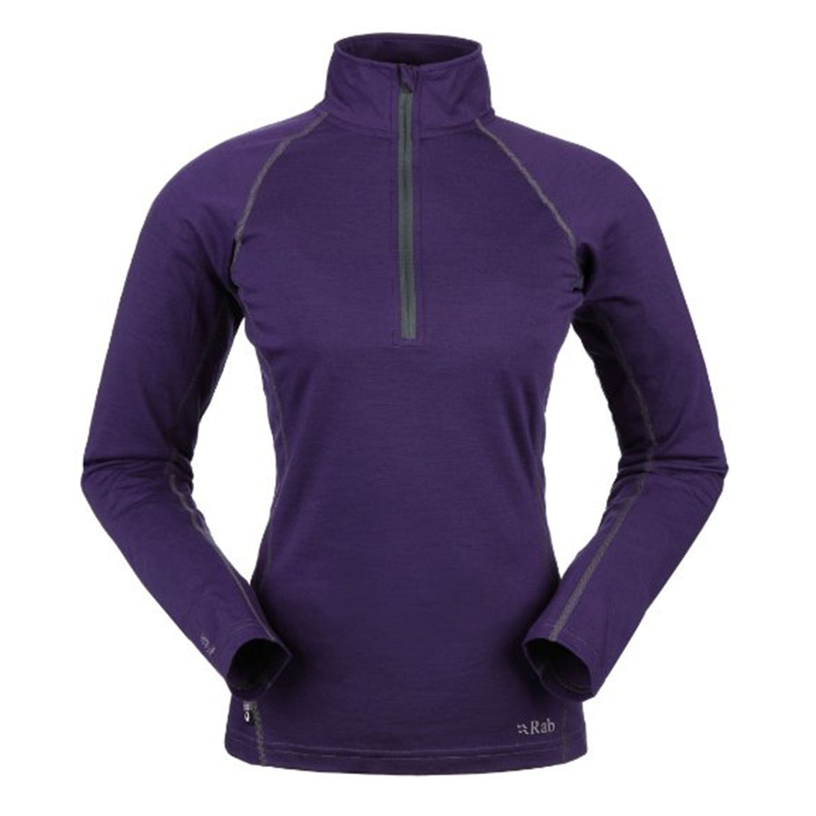 165 Long Sleeve Zip, Amethyst (+ $10)