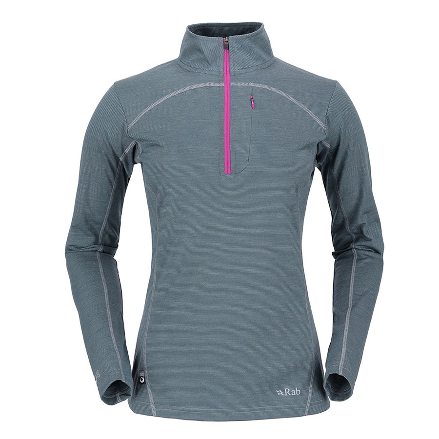 190 Long Sleeve Zip, Smoke (+ $20)