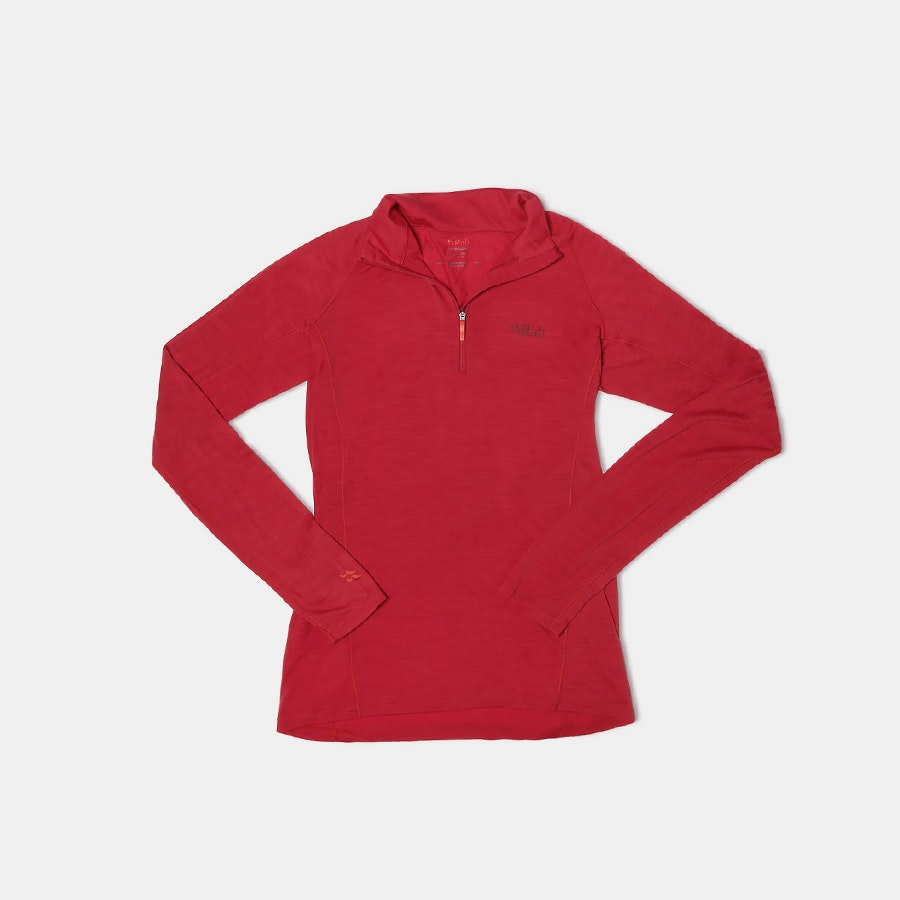 Rab Men's Merino 120 Long-Sleeve Zip Tee