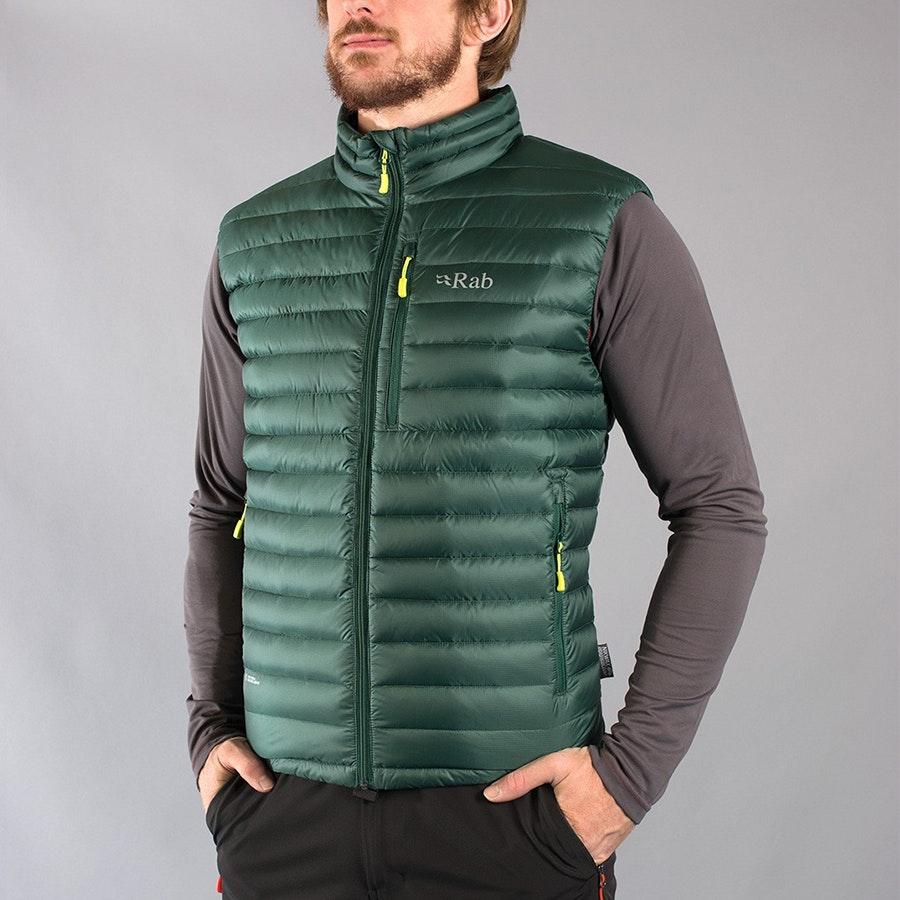 Men's Microlight Vest, fir/lime
