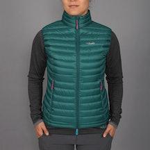 Women's Microlight Vest, spruce/peony