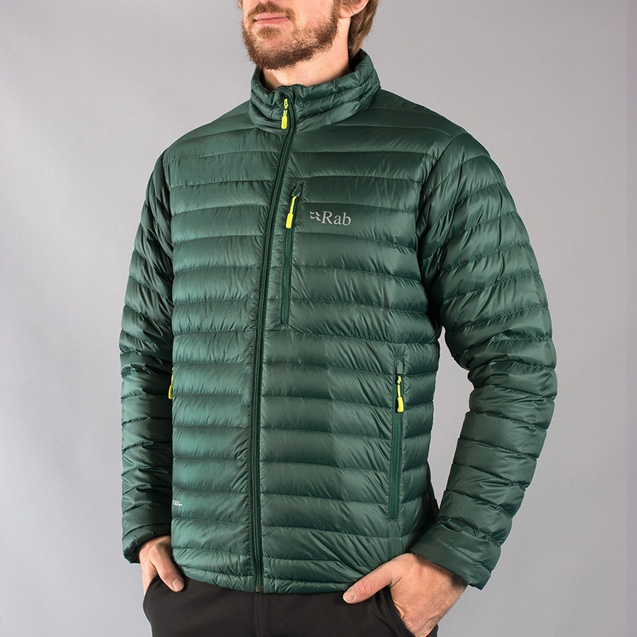 Men's Microlight Jacket, fir/lime