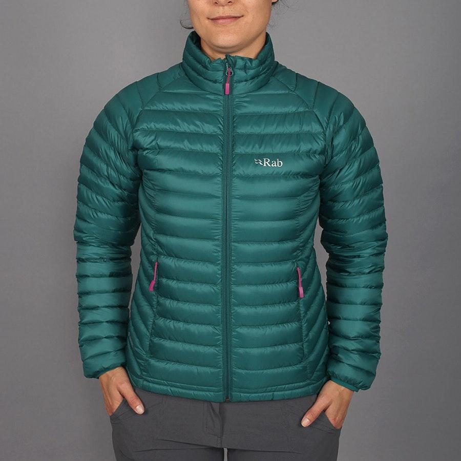 Women's Microlight Jacket, spruce/peony