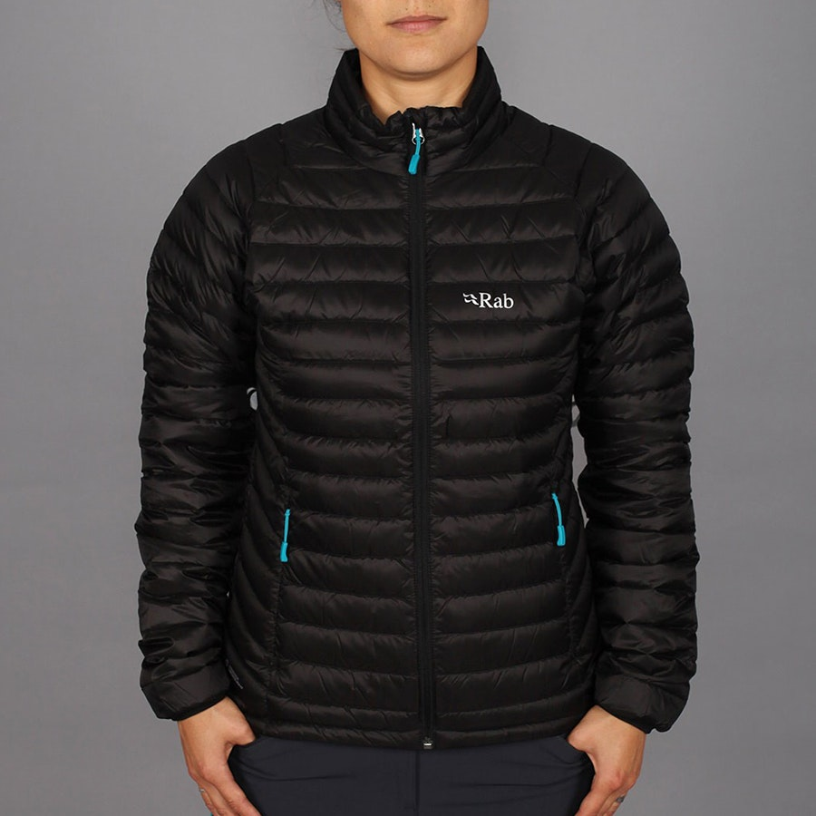 Women's Microlight Jacket, black/tasman