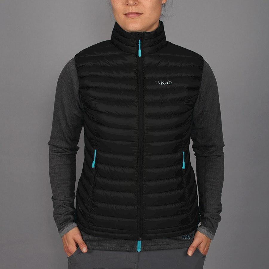Women's Microlight Vest, black/tasman