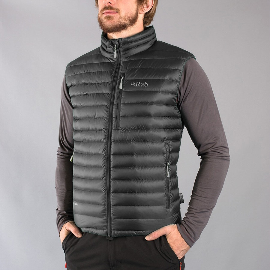 Men's Microlight Vest, beluga/squash