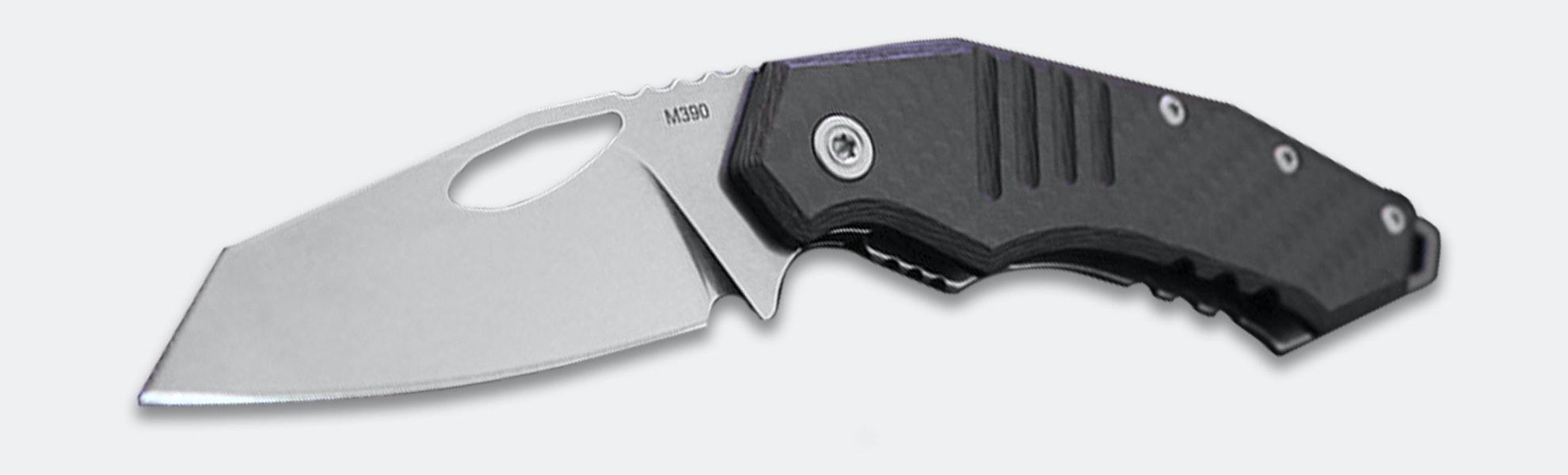 Raidops Blue Shark M390 Folding Knife