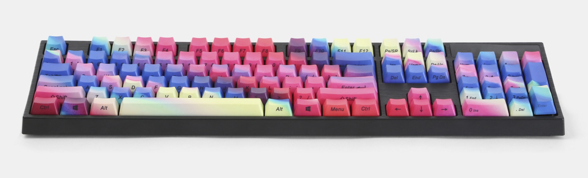 Rainbow PBT Dip-Engraved Keycap Set