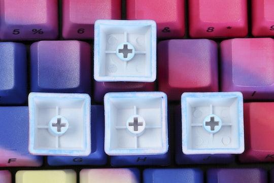 Rainbow PBT Dip-Engraved Keycap Set