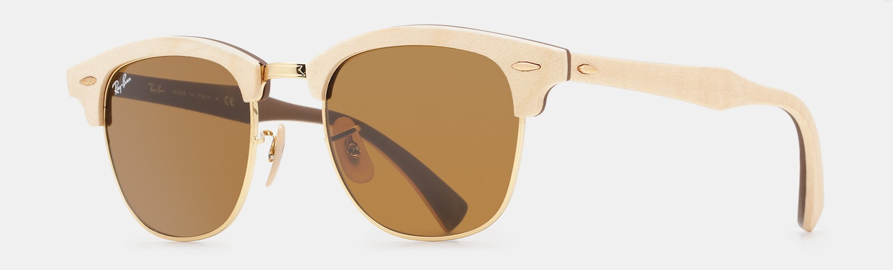 02e629c497d Ray-Ban Clubmaster Wood Sunglasses