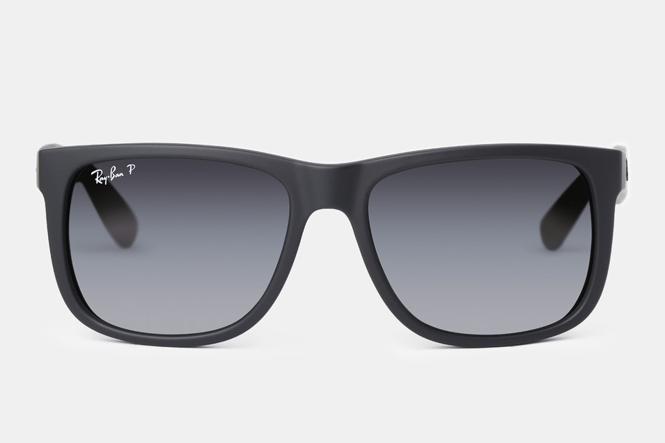 d81f03a2aa9 ... the Justin s black frame is fitted with polarized gray gradient lenses.  Characterized by a smooth transition from black to transparent gray