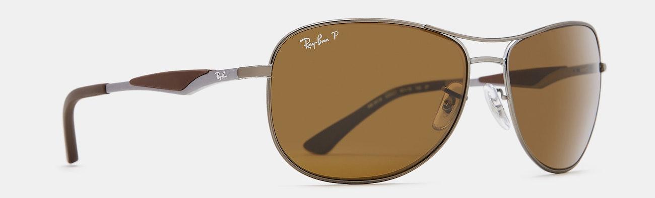 9f92bdf5a2e Ray-Ban RB3519 Polarized Sunglasses