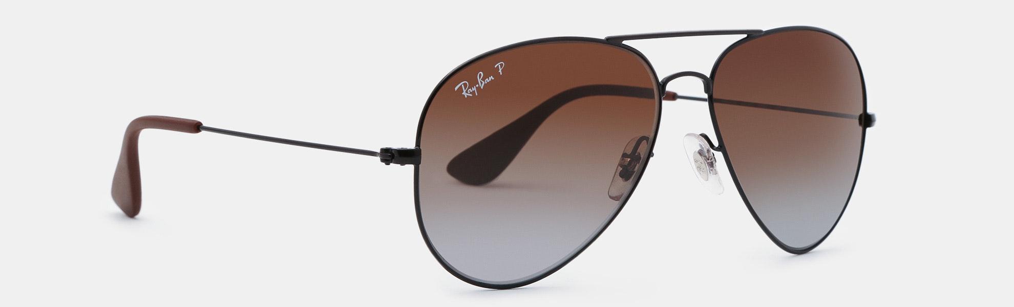 Ray-Ban RB3558 Polarized Aviator Sunglasses