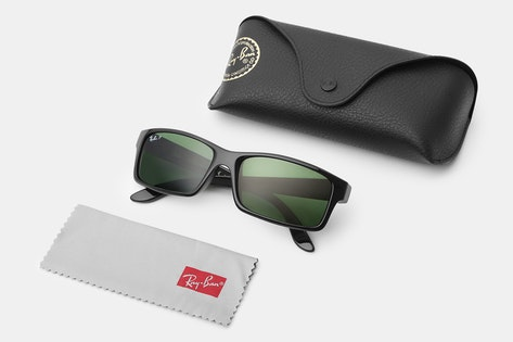 ... Ray Ban RB4151 Sunglasses Gradient Black Frame Crystal  meet c6fe5  5fa15 The gray polarized lenses provide reliable UV protection, improve  contrast, and ... eca14f5ebb98