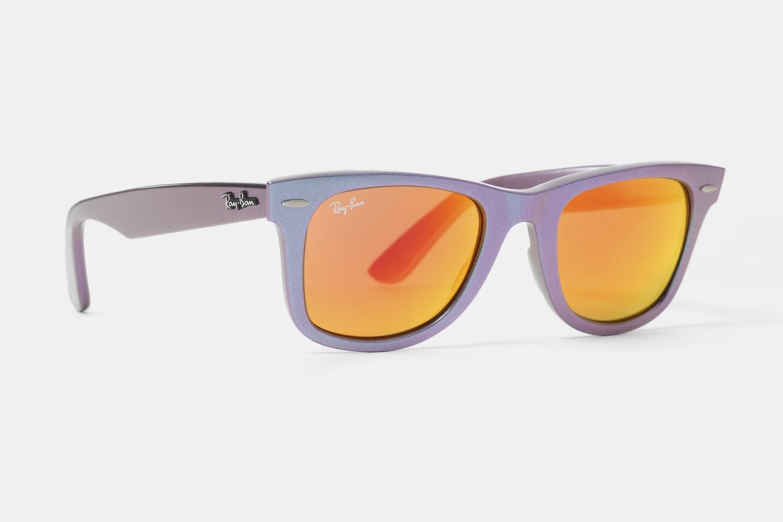 Purple Frame with Orange Flash Lenses
