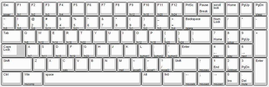 Winkeyless w/ Arrow keys (7u Spacebar)