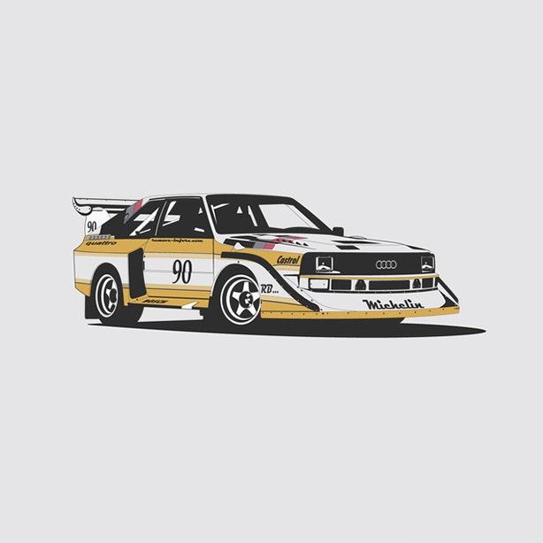 Audi Quattro Artprint