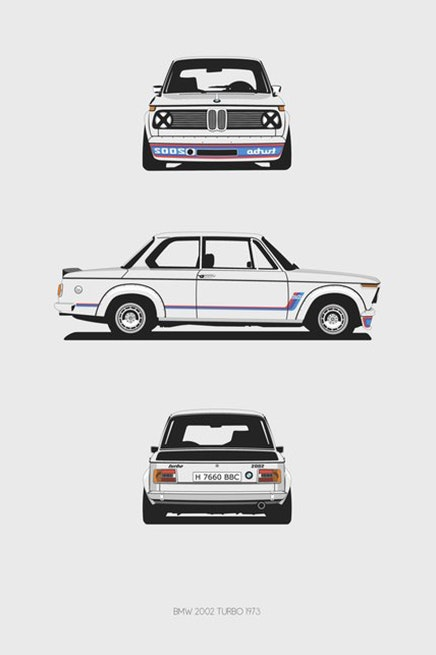 BMW 2002 Turbo Trilogy Print